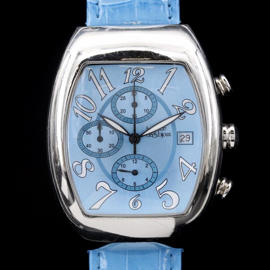 Le Monde de Saijoux Chronograph Stainless Steel Quartz Wristwatch