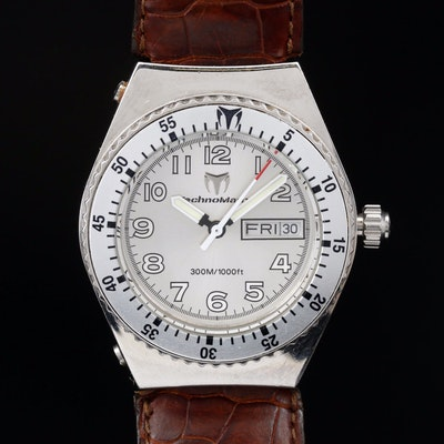 Techno Marine 300 Meters Stainless Steel Quartz Wristwatch