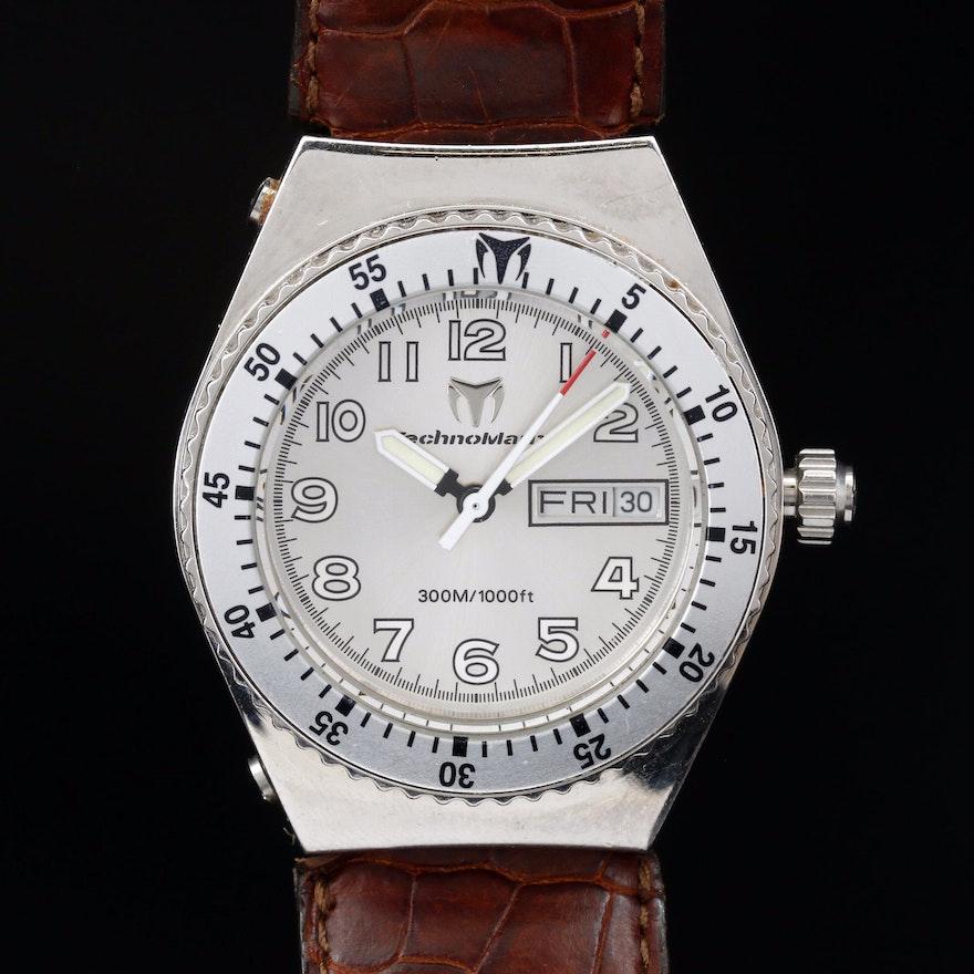 Techno Marine 300 Meters Stainless Steel Quartz Wristwatch