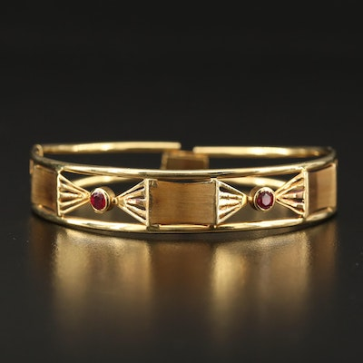 18K Ruby Bracelet with Cut Out Designs