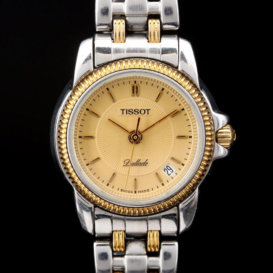 Tissot Ballade Two Tone Stainless Steel Quartz Wristwatch