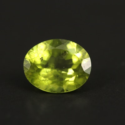 Loose 2.60 CT Oval Faceted Peridot