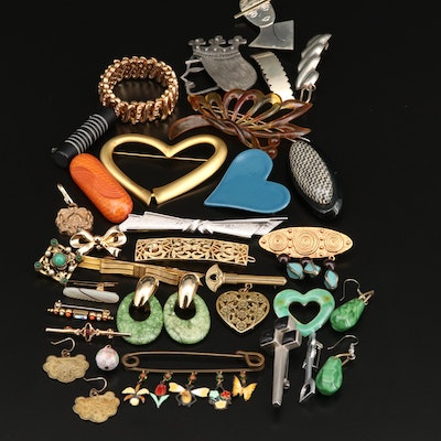 Costume Jewelry Selection Featuring Coro, Crown Trifari and Gemstone Accents