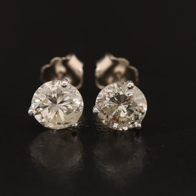 14K Martini Set 2.17 CTW Diamond Stud Earrings