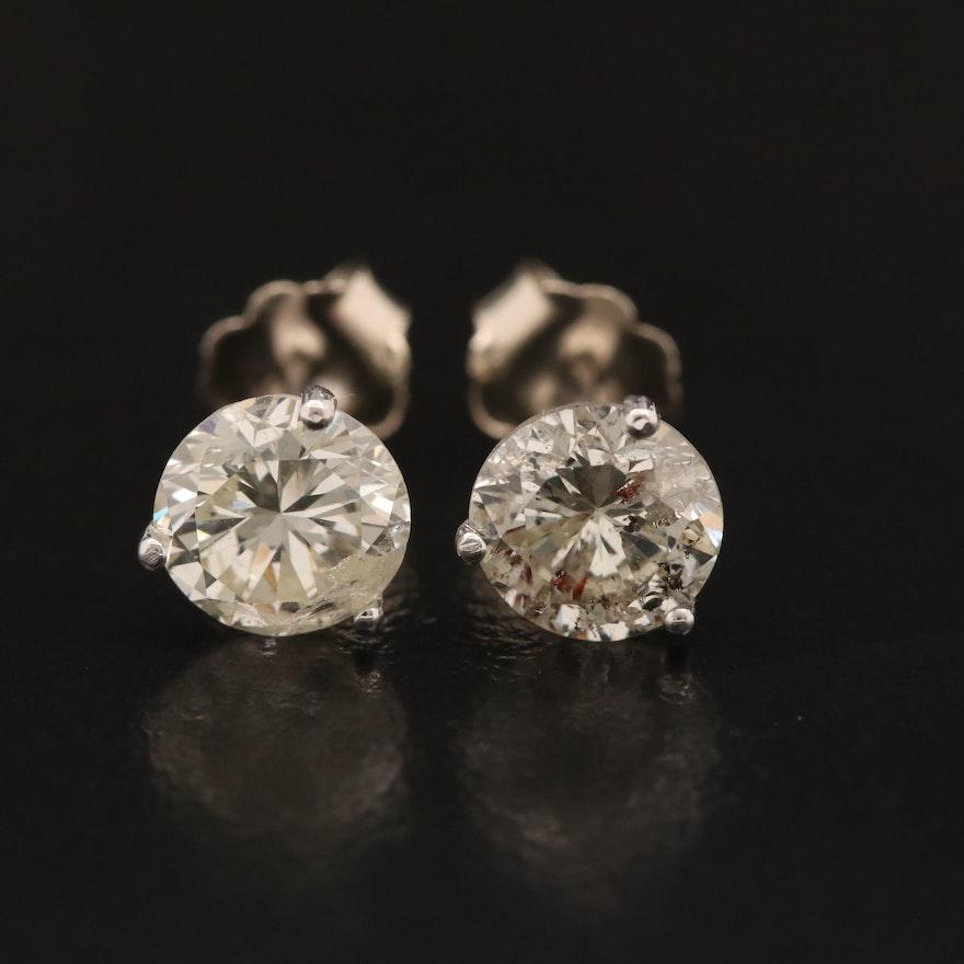 14K Martini Set 2.17 CTW Diamond Stud Earrings