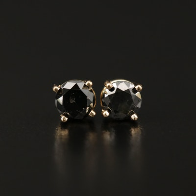 14K 1.10 CTW Diamond Stud Earrings