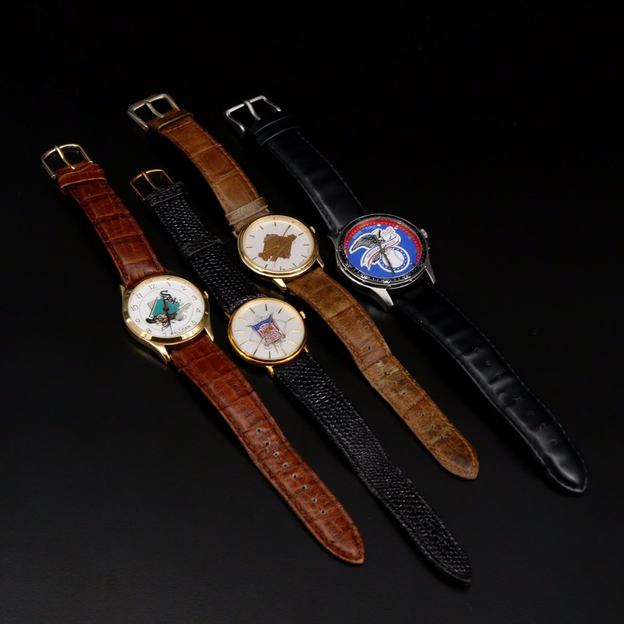 Collection of Four Baseball Wristwatches