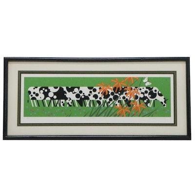 "Charley Harper Serigraph ""Green Cuisine,"" 1984"