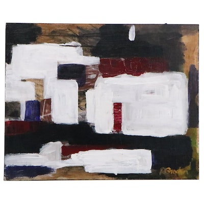 "Randy Groden Mixed Media Abstract Painting ""Corso"""