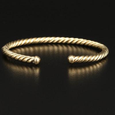 David Yurman 18K Cable Spiral Cuff