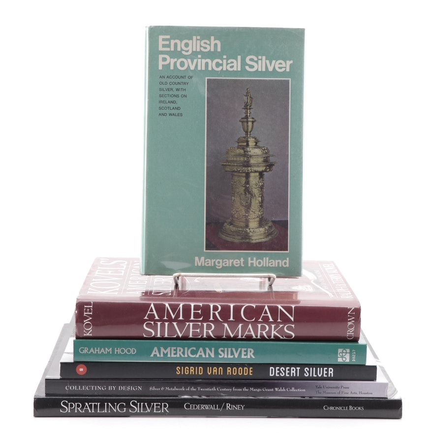 "Silver Decorative Arts Reference Books Including ""Kovel's American Silver Marks"""