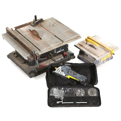 Table Saw, Tile Saw and Miter Saw