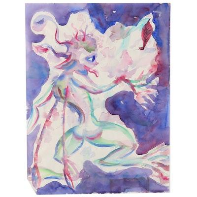 Kathleen Zimbicki Abstract Watercolor Painting
