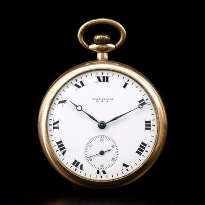 Antique 1918 Waltham Gold Filled Pocket Watch