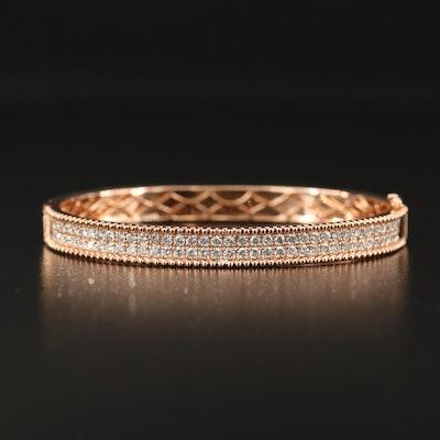 Odelia 18K Rose Gold 2.03 CTW Diamond Bangle