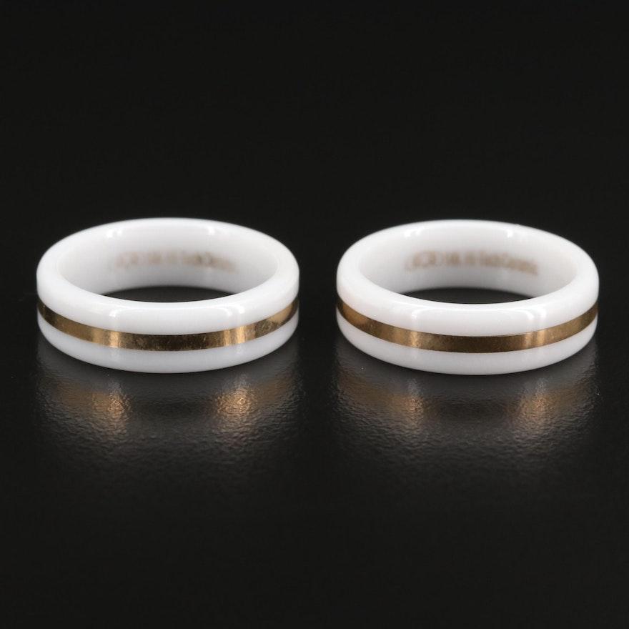 14K Ceramic Bands