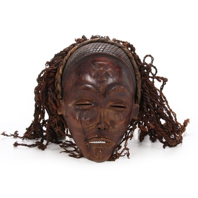 "Chokwe ""Pwo"" Carved Wooden Mask, Central Africa"