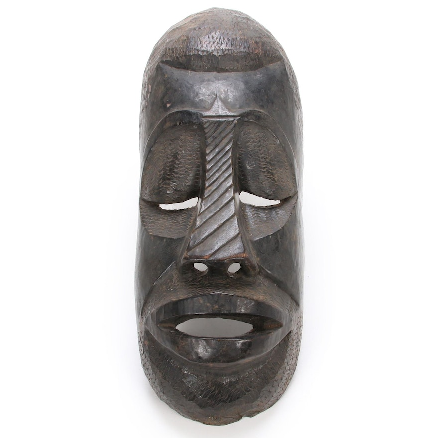 Decorative Elongated African Mask