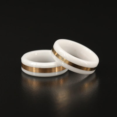 14K Ceramic Bands