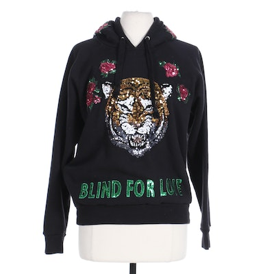 Gucci Blind For Love Sequined Hooded Sweatshirt