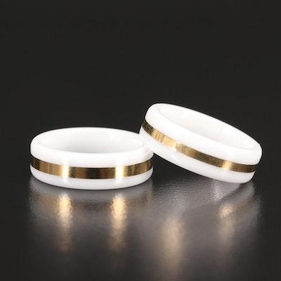 Hi-Tech Ceramic Bands with 14K Inlay