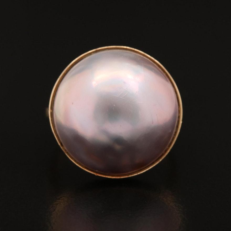 18K Mabé Pearl Ring