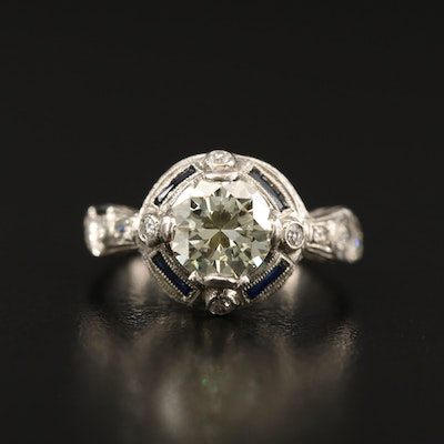 Vintage Platinum 1.63 CTW Diamond Ring