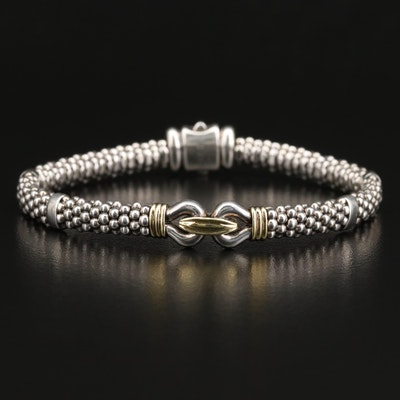 Lagos Sterling Silver Bracelet with 18K Accents