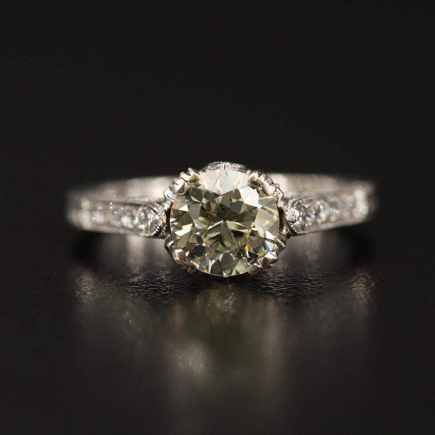 Edwardian Style 18K 1.53 CTW Diamond Ring