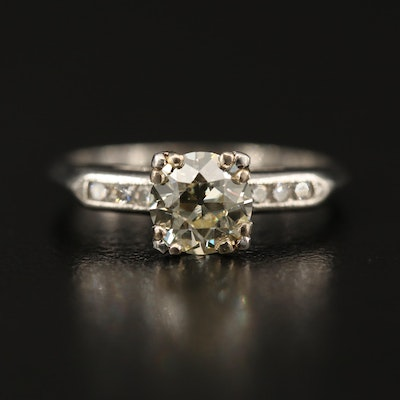 Platinum 1.12 CTW Diamond Ring