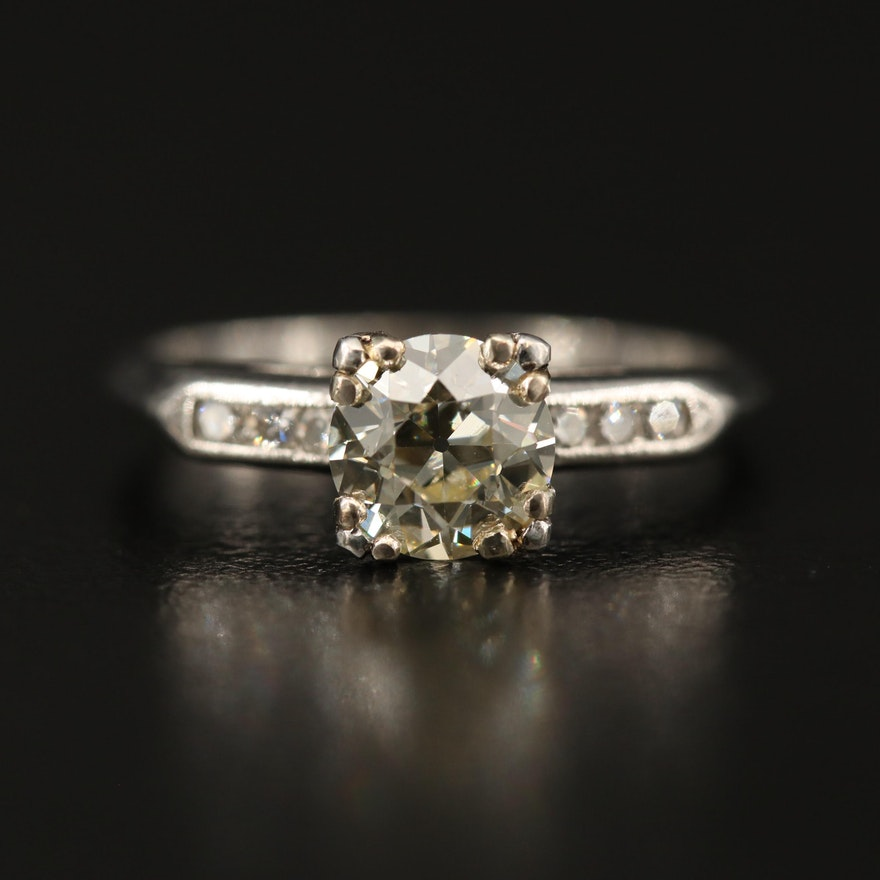 Platinum 1.12 CTW Diamond Ring