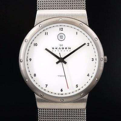 Skagen Titanium Quartz Wristwatch with Date