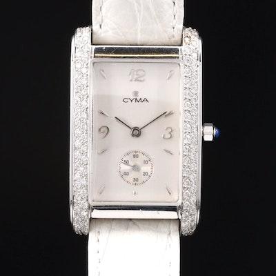Cyma 18K White Gold and Diamond Quartz Wristwatch