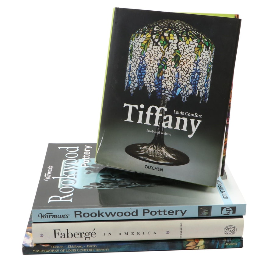 Decorative Arts Reference Books Including Rookwood Pottery and Tiffany