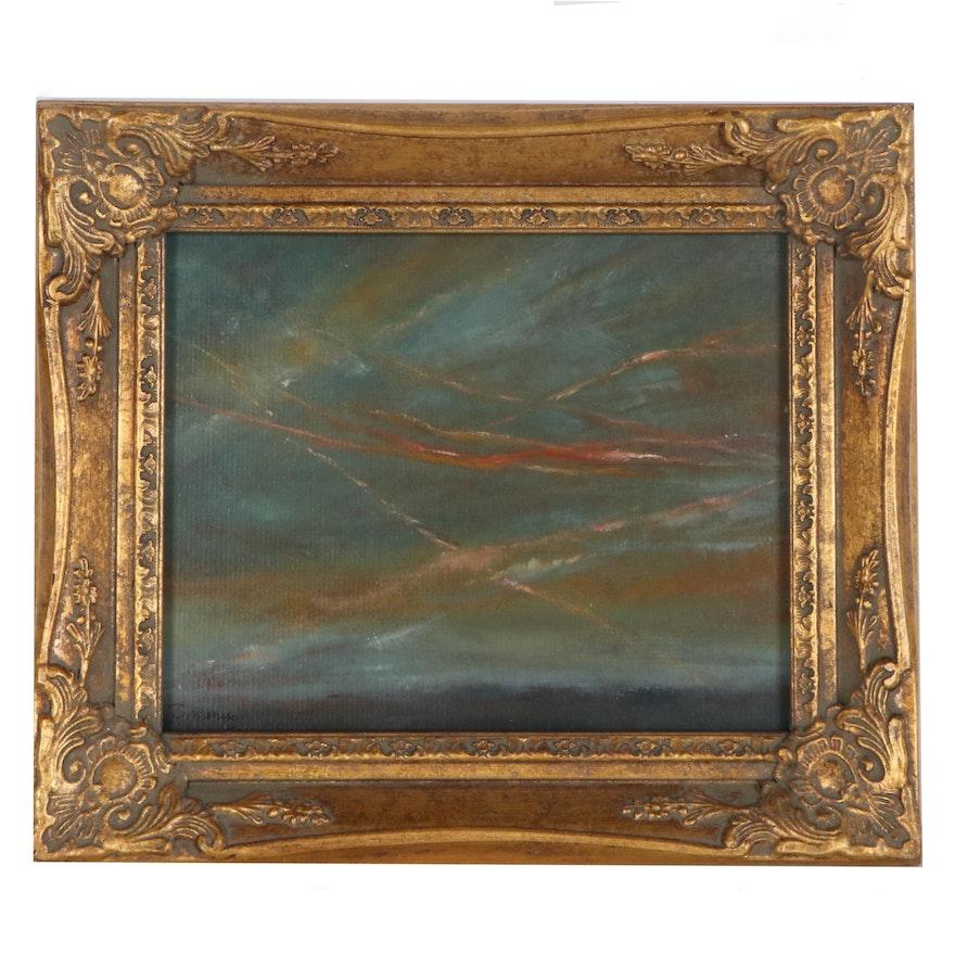 """Rebecca Manns Oil Painting """"Summer Dusk,"""" 2020"""