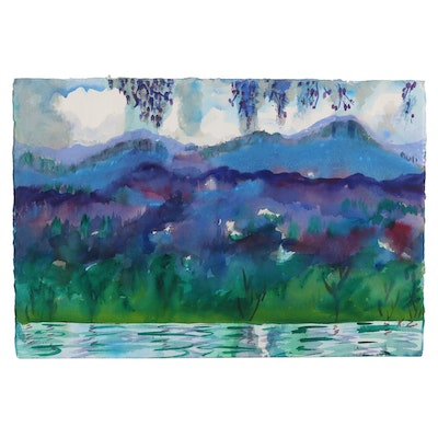 Kathleen Zimbicki Landscape Watercolor Painting