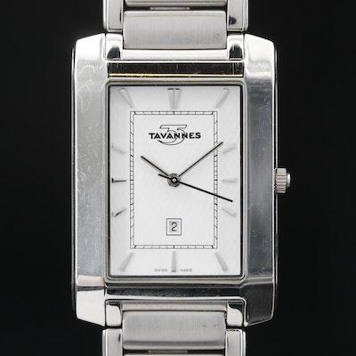 Tavannes with Date Stainless Steel Quartz Wristwatch