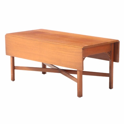 "Kittinger Furniture ""Williamsburg Adaptation"" Mahogany Drop-Leaf Coffee Table"