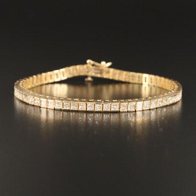 14K 6.00 CTW Diamond Line Bracelet