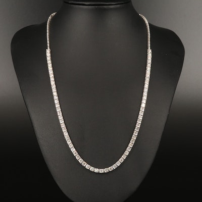14K 13.04 CTW Diamond Line Necklace