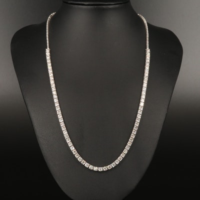 14K 13.04 CTW Diamond Line Necklace