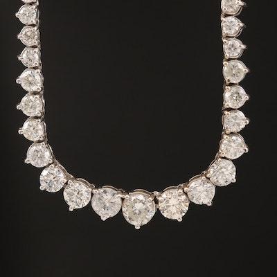 18K 10.17 CTW Diamond Graduated Rivière Necklace
