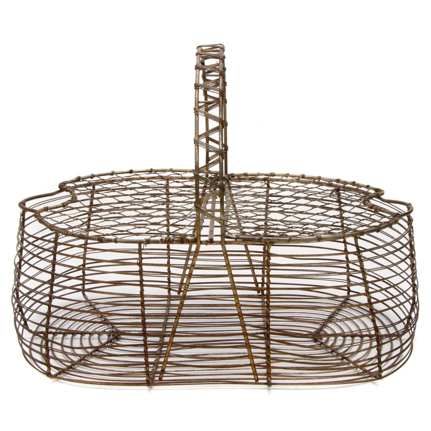 Wire Egg Basket, Mid-20th Century