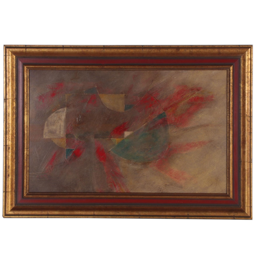 Eugene DeSmith Abstract Oil Painting, 21st Century