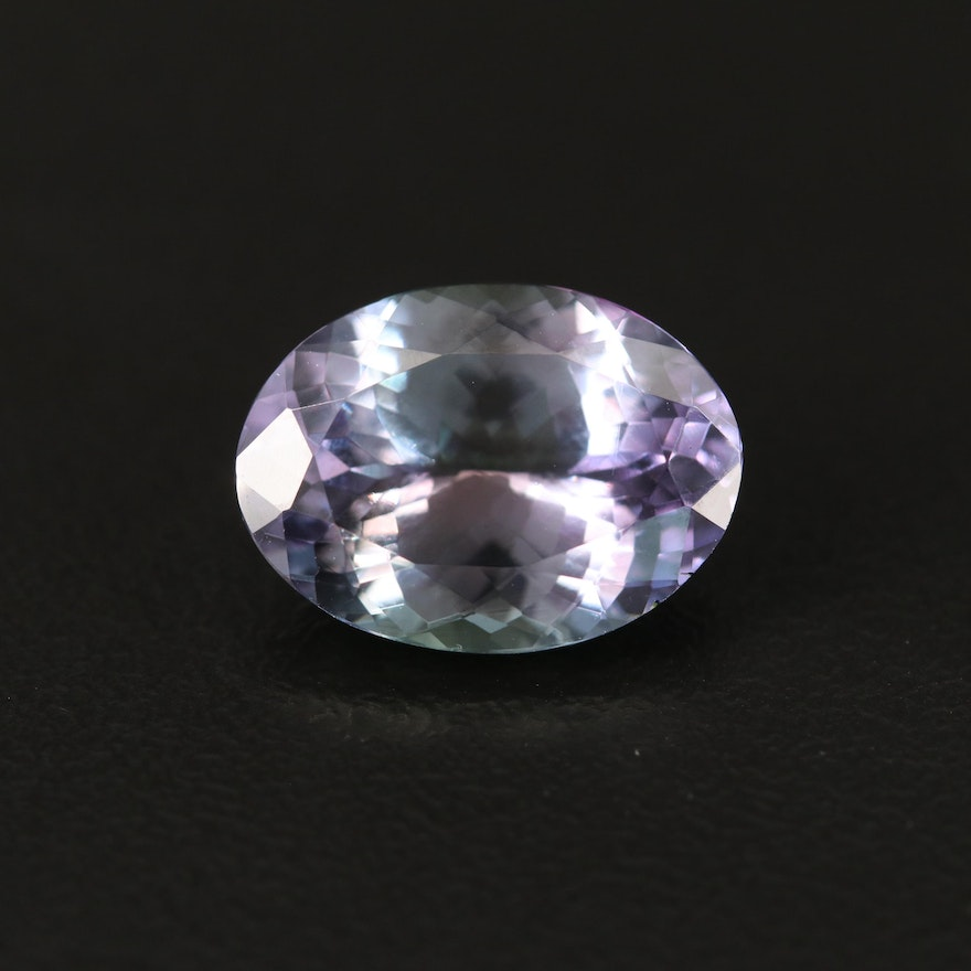 Loose 5.91 CT Oval Faceted Tanzanite