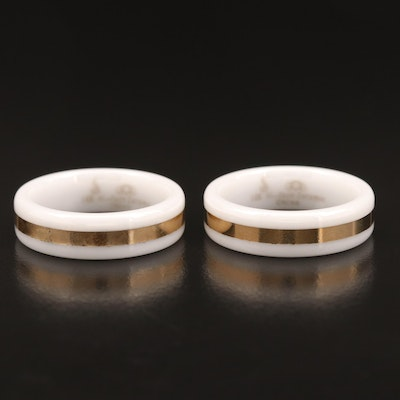 Ceramic and 14K Rings