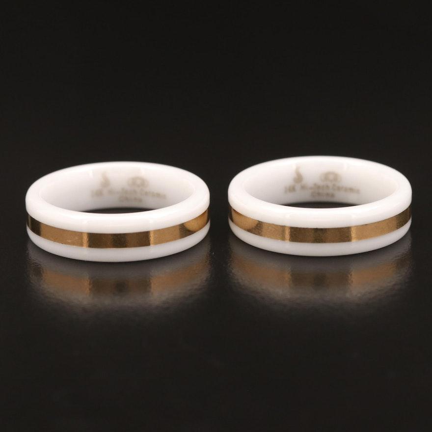 Ceramic and 14K Rings