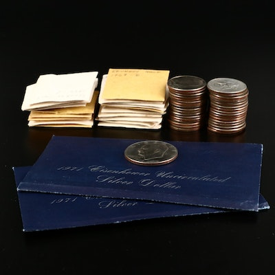 Eisenhower Dollars and Kennedy Half Dollars, Including Silver