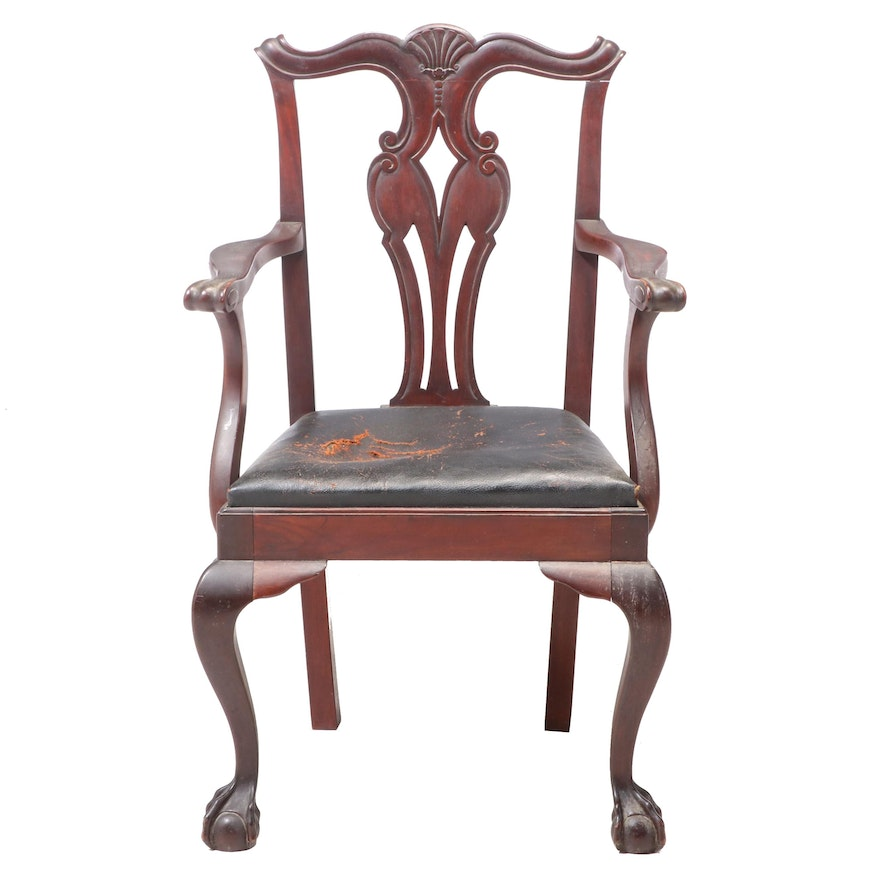 American Chippendale Style Centennial Mahogany Armchair, Late 19th Century
