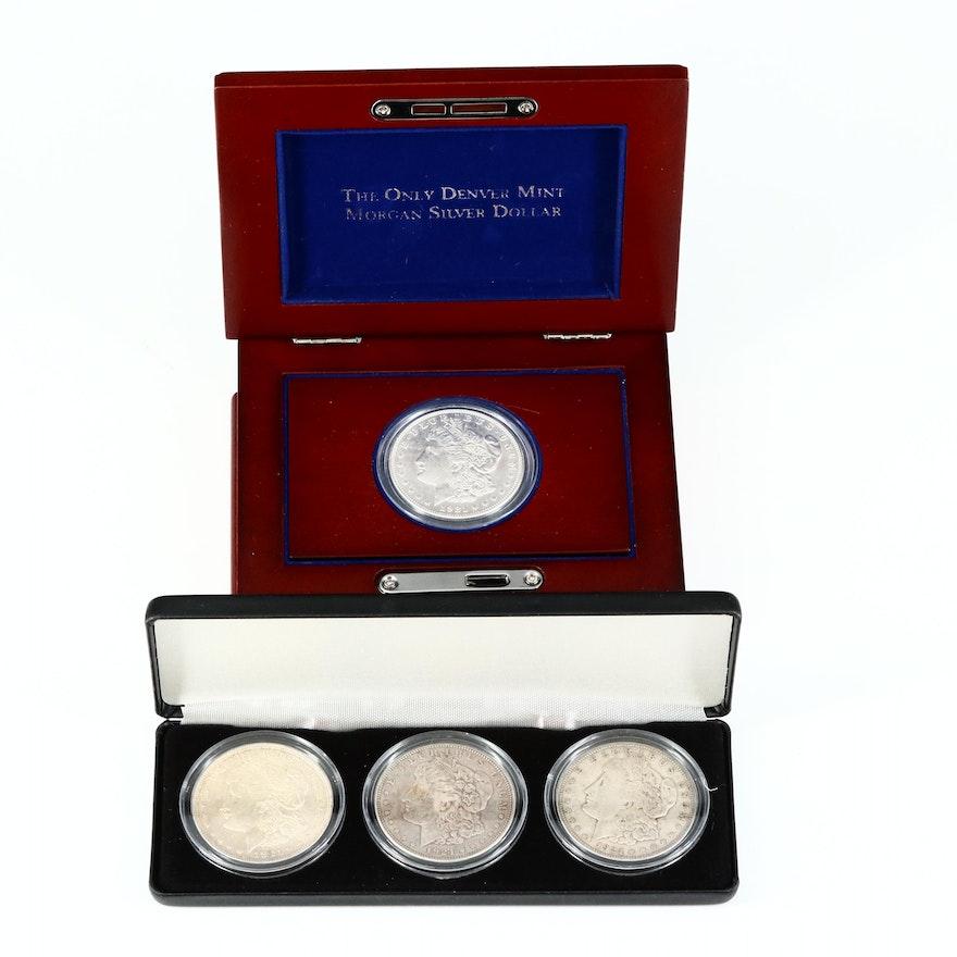 1921-D Denver Mint Morgan Silver Dollars